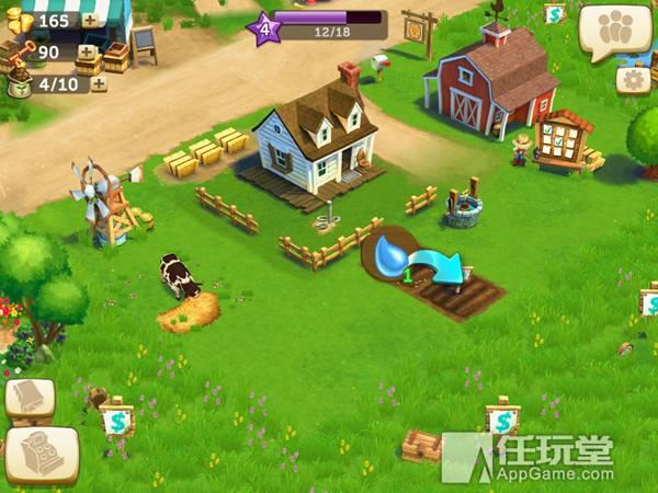 玩家可在游戏中建造郁郁葱葱的海边家庭农场,种植庄稼果树,饲养动物