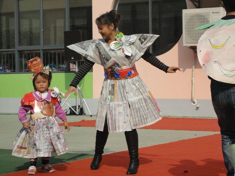 环保时装秀服装图片幼儿园